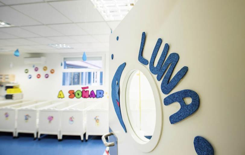 Escuela infantil en Las Rozas Pequeños Astronautas - Aula Luna - - entrada al aula